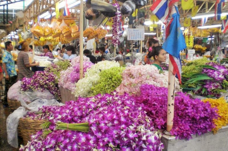 Bangkok mit Kindern Blumenmarkt_