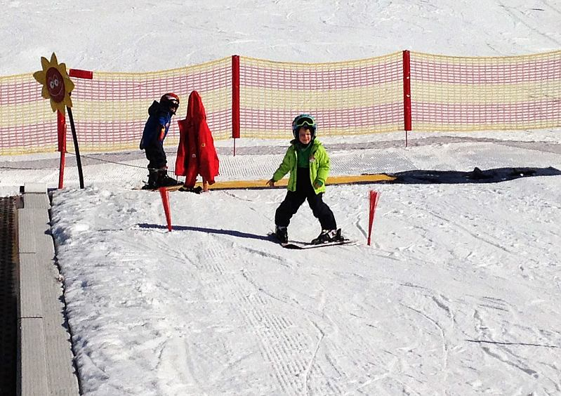 wann lernen Kinder skifahren