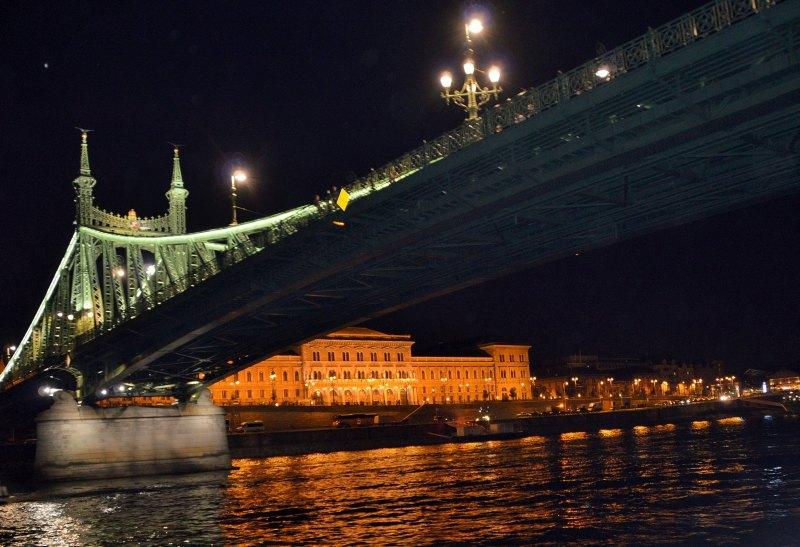 Budapest bei Nacht Freiheitsbrücke