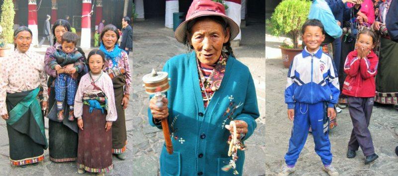 Reise nach Tibet Menschen in Lhasa