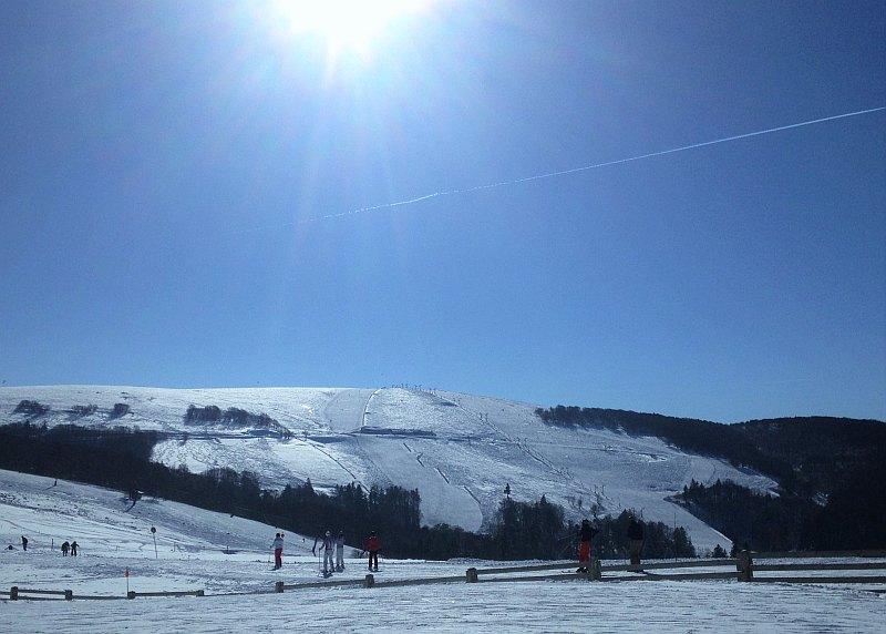 Vogesen im Winter _La Bresse Skifahren