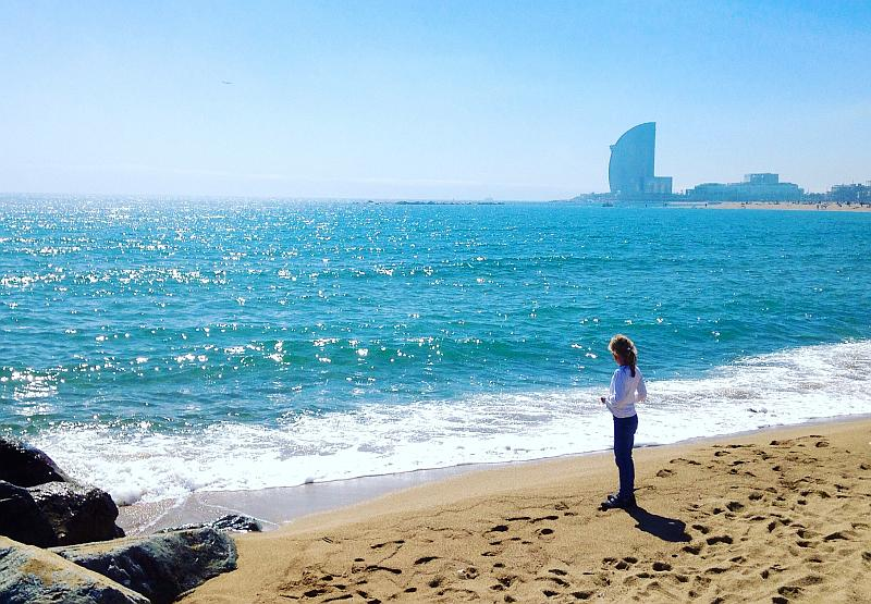 Barcelona mit Kindern: Strand