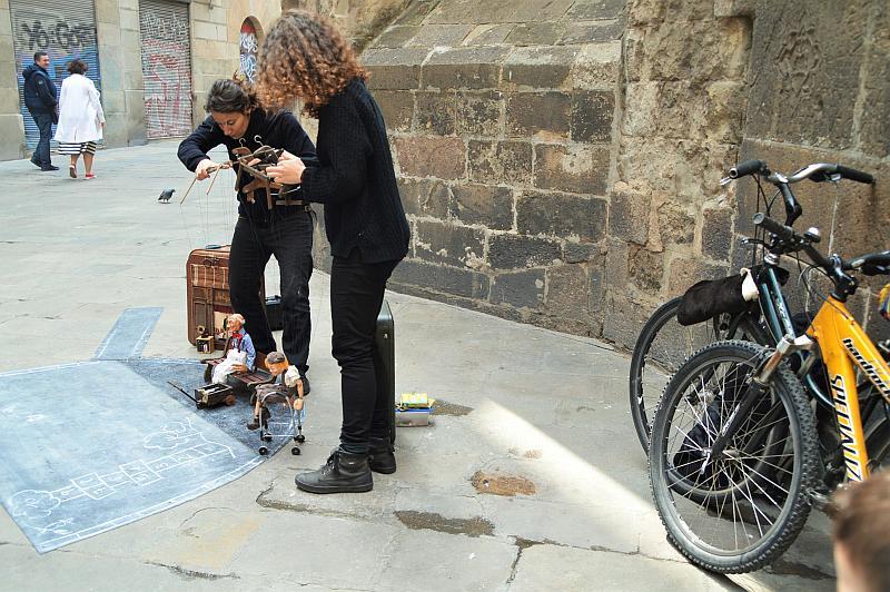 Barcelona mit Kindern: Straßenkunst