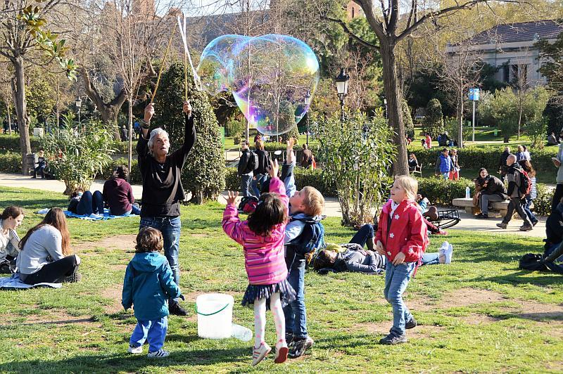 Barcelona mit Kindern: Seifenblasen