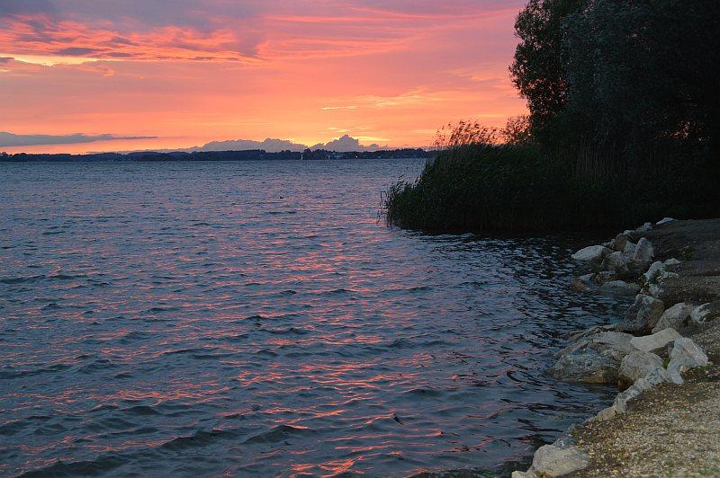 Schöne Seen: Chiemsee Sonnenuntergang